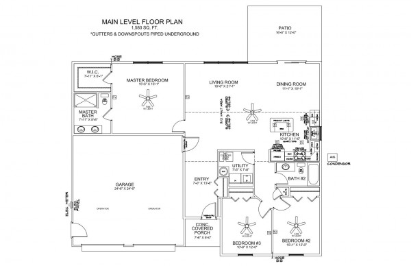 Heritage Estates lot 198 Floor Plan