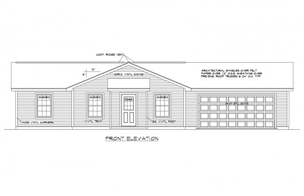 Woodbury Estates Lot 19 Front Elevation