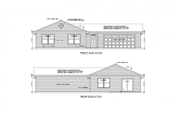 Wistrand Woods lot 5 Front Elevation