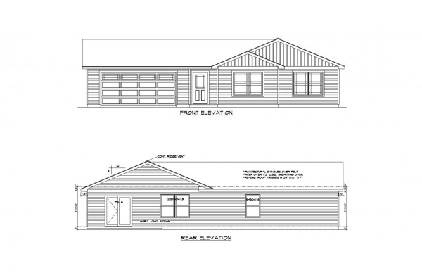 Wistrand Woods lot 6 Front Elevation