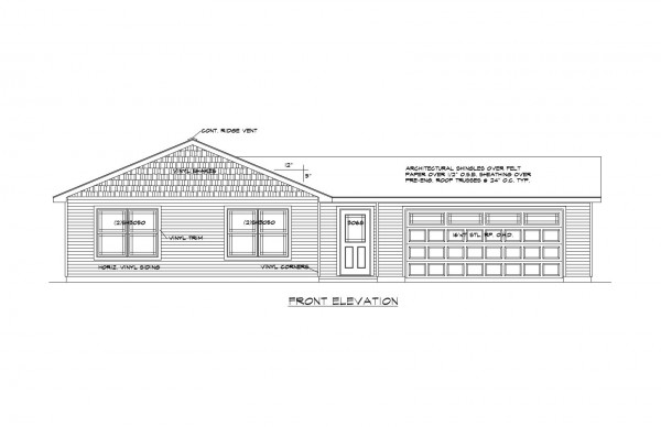 Center Place Lot 30 Front Elevation