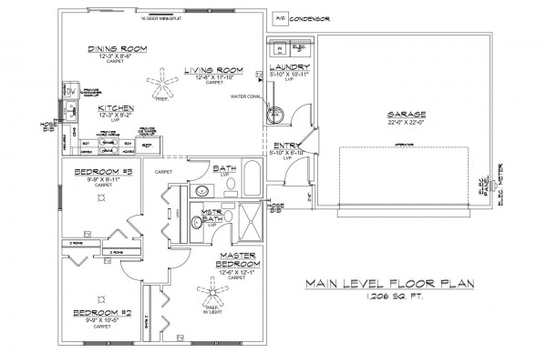 Center Place lot 30 Floor Plan