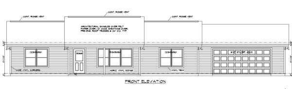 Heritage Estates lot 170 Front Elevation