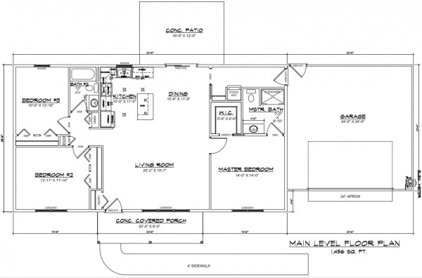 Heritage Estates lot 170 Floor Plan